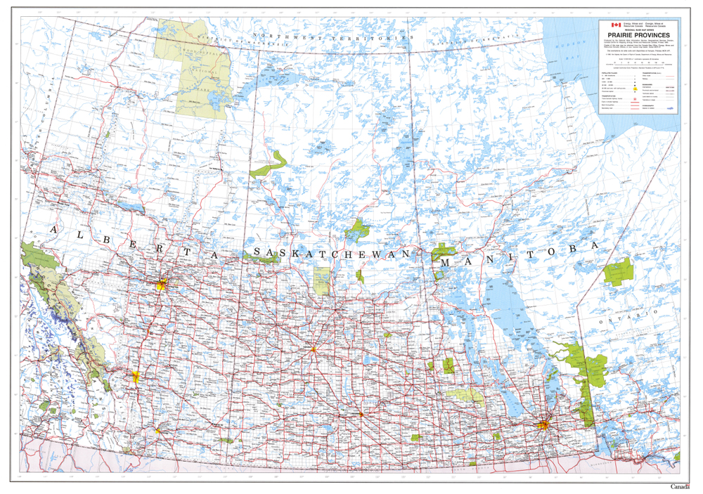 ISC - General Wall Maps Canada Wall Map on