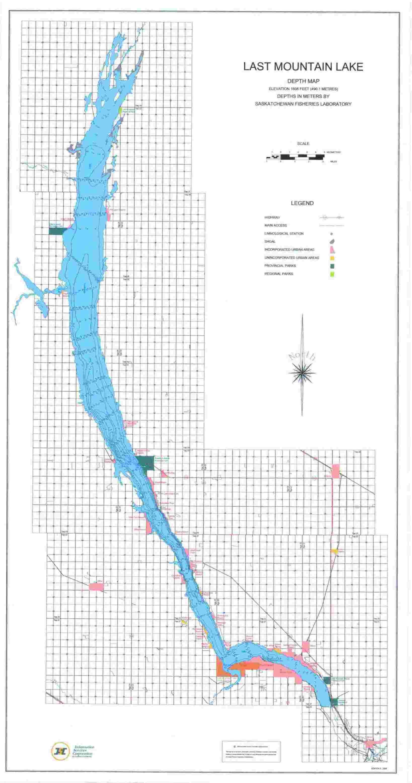 last mountain lake depth map Isc Lake River And Hiking Maps last mountain lake depth map